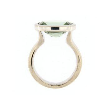 Ring Calyx aus Weißgold 750 mit einem Beryll