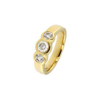 Ring Guppy aus Gelbgold 750 mit 3 Diamanten im Brillant-Schliff