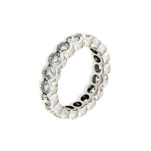 Ring Memoire aus Weißgold 750 mit Diamanten im Brillant-Schliff