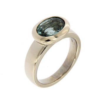 Ring aus Weissgold 750 mit einem Turmalin 2,11ct